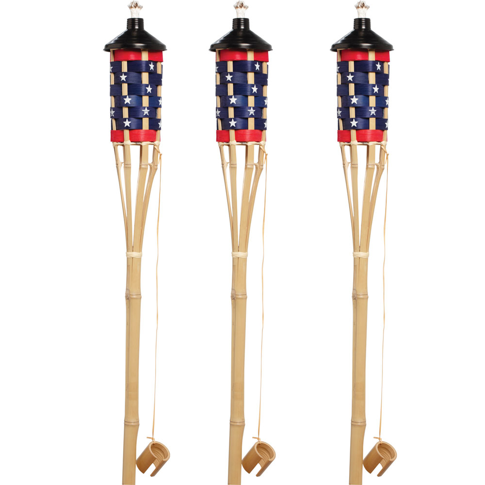 5' Patriotic Stars & Stripes Patio Torch - 12 Pack