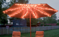 Patio Table Umbrella Mini LED String Light Strand Set - Cool White - 8 Strands