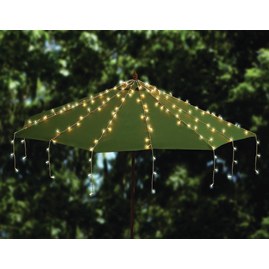 Patio Table Over The Umbrella Mini LED String Light Strand Set - Cool White - 20 Strands - Decorative Porch & Patio Lights