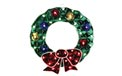 "17"" H x 15.5"" W Holographic Christmas Wreath Window & Yard Art - 35 Mini Lights - BS-88300"