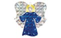 "17"" H x 14"" W Holographic Christmas Angel Window & Yard Art - 35 Mini Lights - BS-88500"