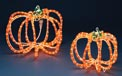 "12"" & 9"" Halloween Pumpkin Ropelight Yard Art Motifs"