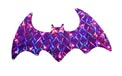 "17"" W x 9"" H Holographic Flying Bat Yard Art - 20 Clear Light Bulbs"