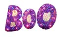 "16.5"" W x 12"" H Holographic BOO Sign Yard Art - 20 Clear Light Bulbs"