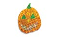 "13.5"" W x 17"" H Holographic Jack O' Lantern Pumpkin Yard Art - 20 Mini Light Bulbs"