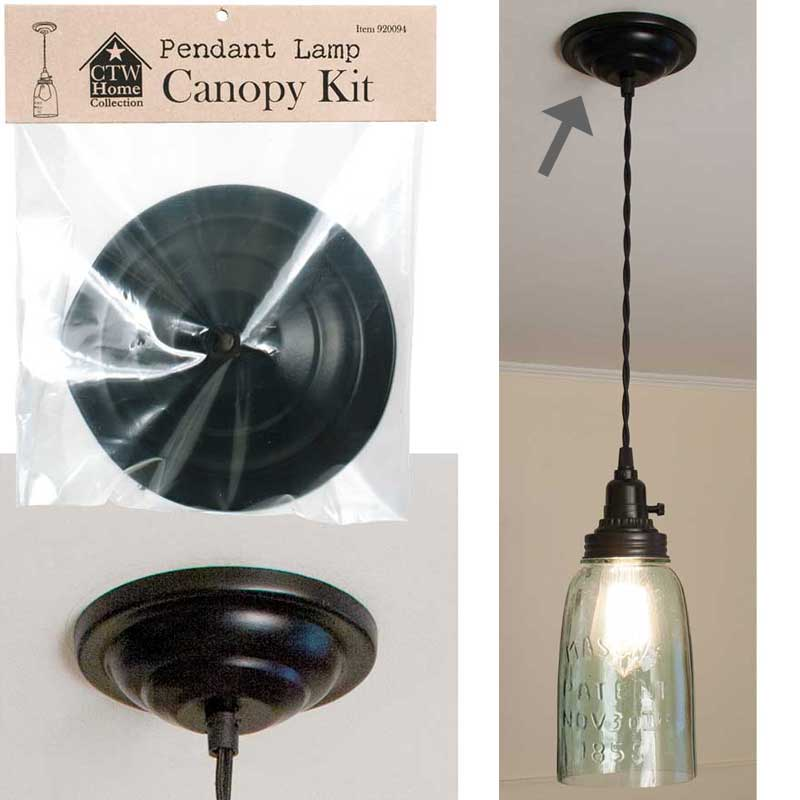 Ceiling Lamp Canopy: Pendant Lamp Canopy Kit