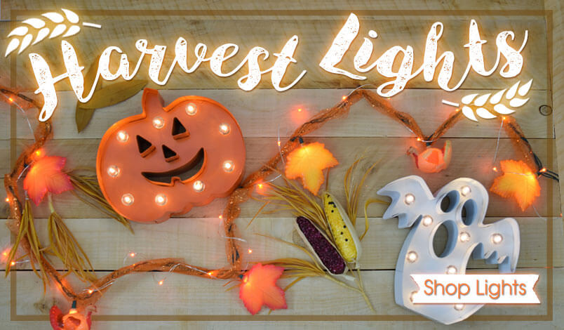 Fall Harvest and Halloween Light Decorations