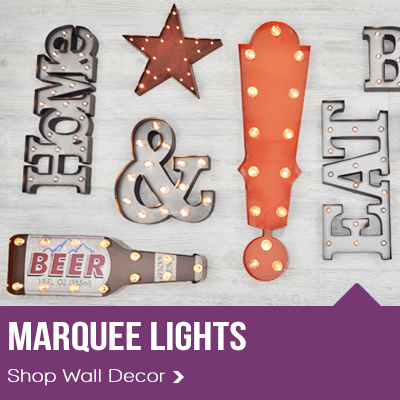 Metal LED Marquee Lights