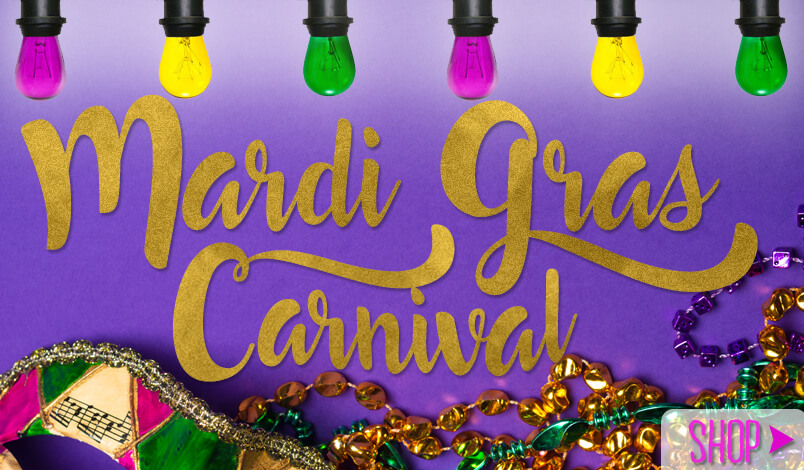 Mardi Gras Fat Tuesday Party Lights
