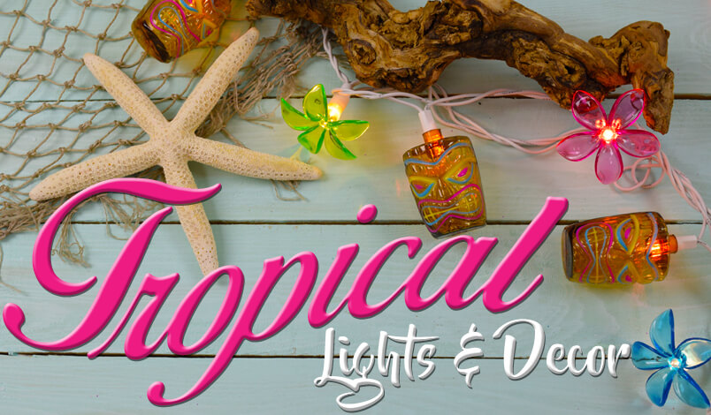 Tropical String Lights and Decor