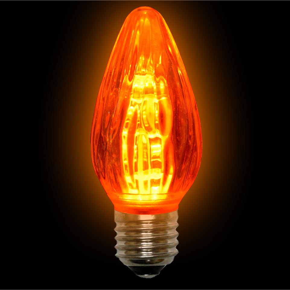 Amber Led F15 Light Bulbs 15 Watts