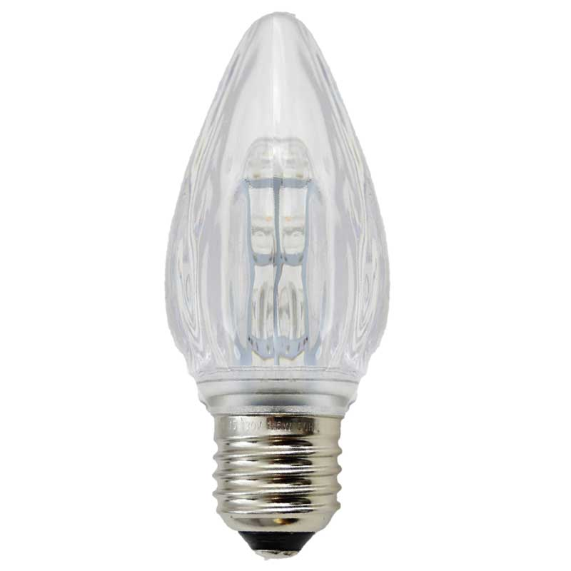 Warm White LED F15 Flame Light Bulbs