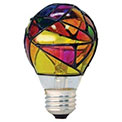 GE Lighting 25W A19 Decorative Light Bulb - Stained Glass - 524784