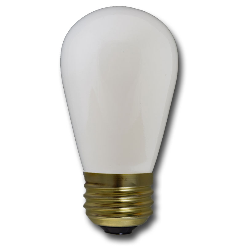 White Light Bulbs 11 Watt S14 Medium Base - 25 Pack