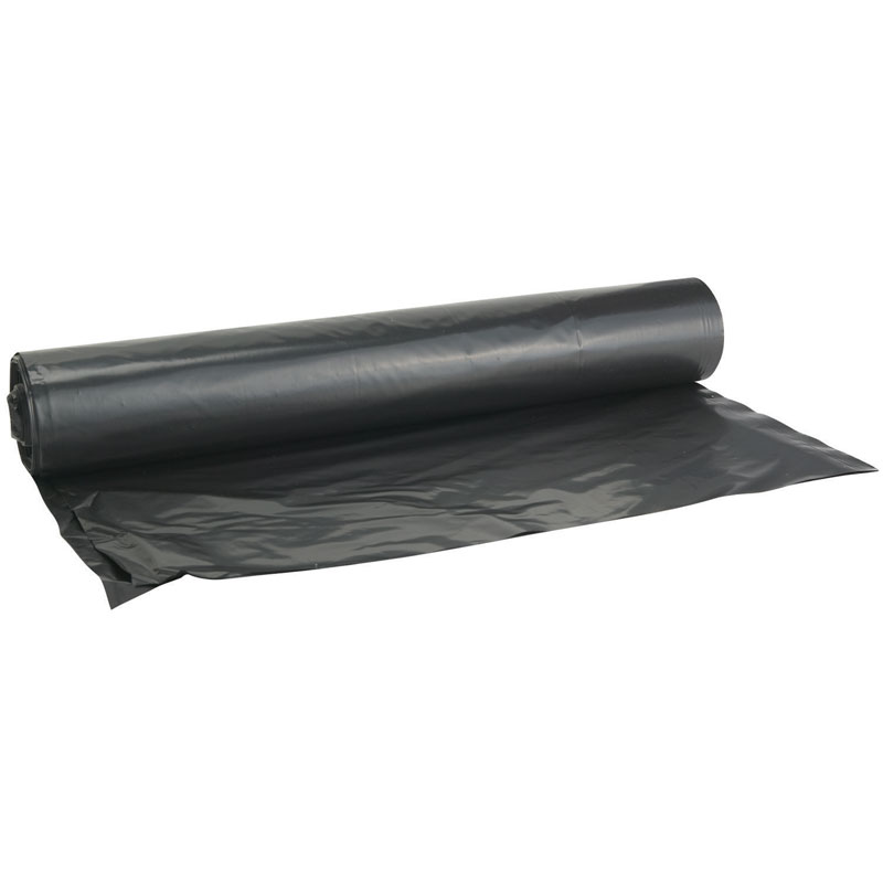 Black Polyethylene Plastic Sheeting Tarp - 20' x 100' - 6 Mil. - Black