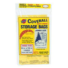 "Coverall Heavyweight Plastic Storage Bags - 60"" x 108"" - 2 mil. 618225"