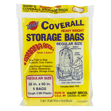 "Coverall Heavyweight Plastic Storage Bags - 36"" x 60"" - 2 mil. 618195"