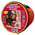 St. Nick's Choice [92435] Wrap-N-Roll String Light Storage Reels w/ Bag - 3 Pack - 900419