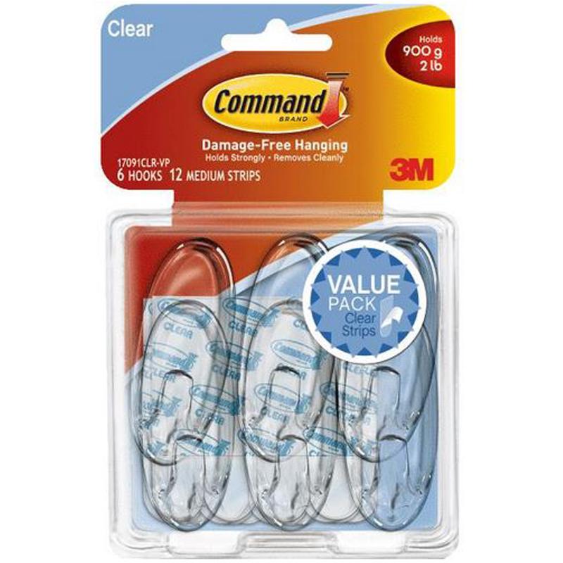 Walmart 3m command adhesive strips perhaps
