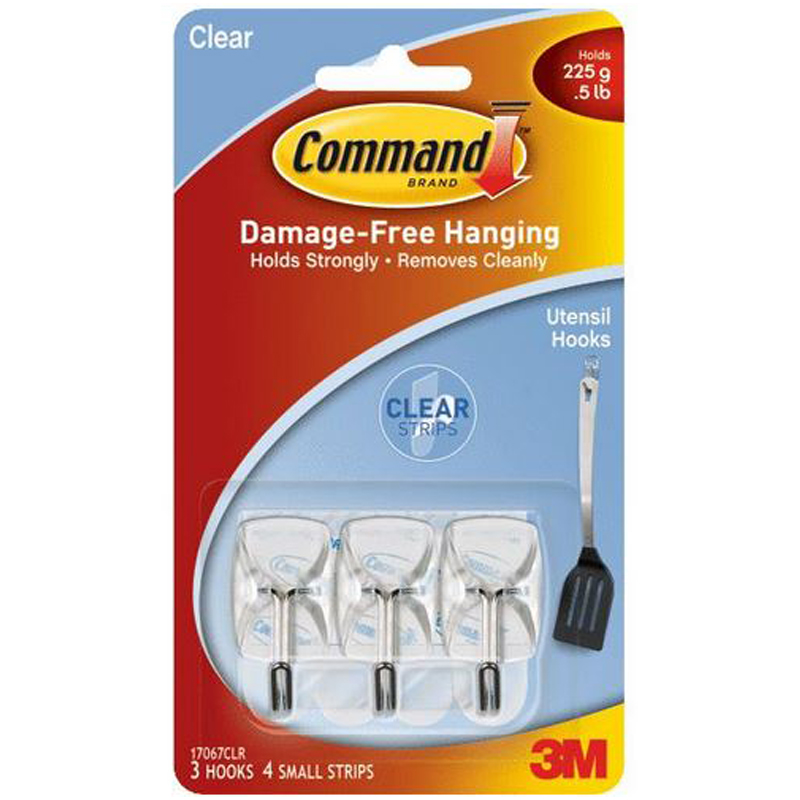 Command Clear Wire Adhesive Hook 241105
