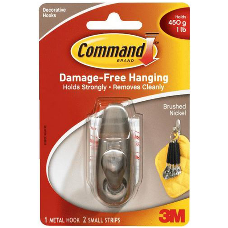 Command Decorative Fashion Classic Metal Adhesive Hook 602057