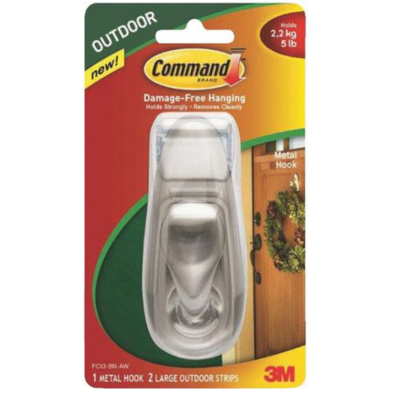 Command Decorative Fashion Classic Metal Adhesive Hook 602100