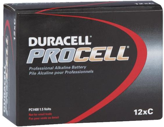 Duracell PROCELL Alkaline Batteries - Size C