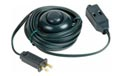 15' Extension Power Cord w/ ON/OFF Foot Press Switch - Green Cord - 3 Outlet Cube Tap - 505000