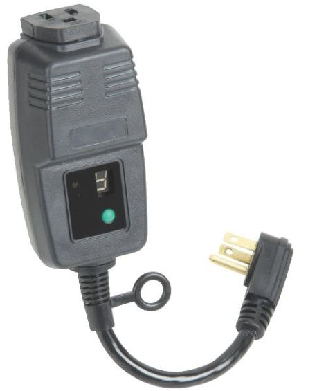 Digital Power Timer : Single outlet outdoor digital power timer w photocell