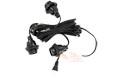 "Indoor Triple Socket Lantern Light Strand Set - Black Wire - 21"" Spacing"