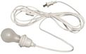 Lantern Power Cord & Light Socket Set - White Cord - Standard Base LE2A