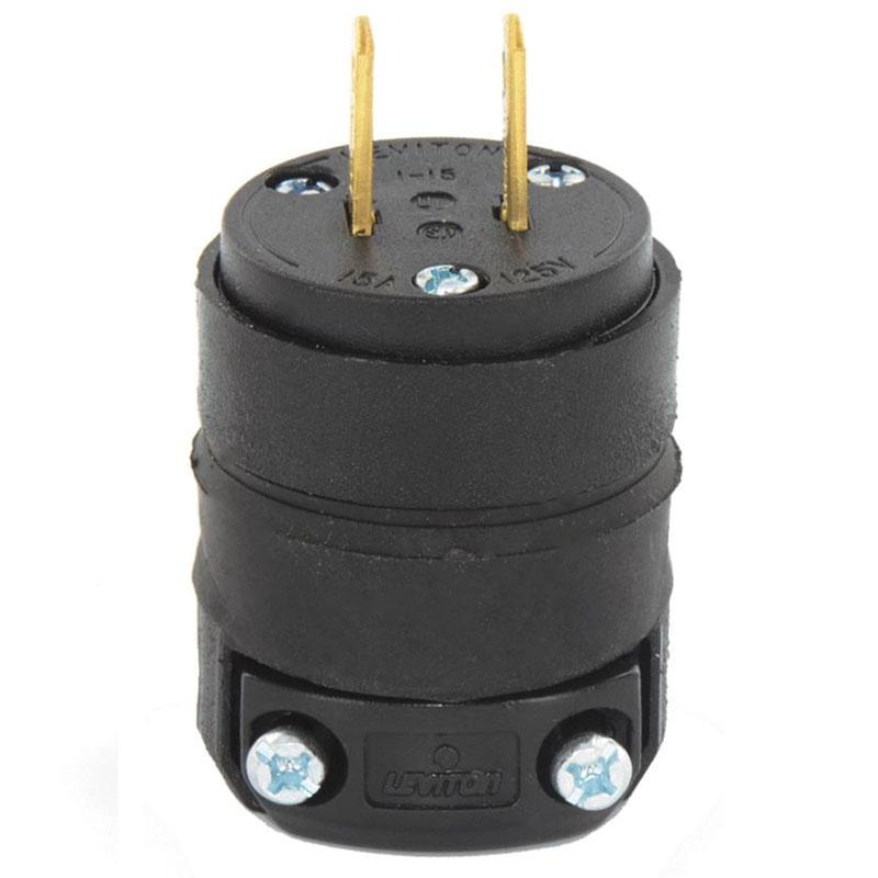 15A 125V 2-Wire 2-Pole Rough Use Cord Plug