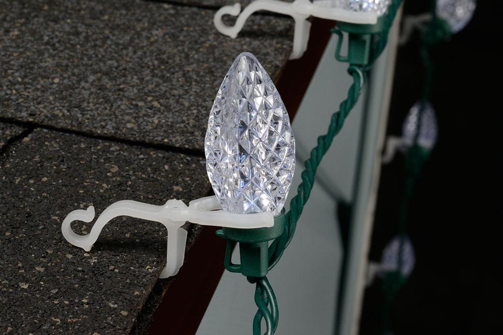 All-Purpose String Light Holders - 100 Pack - String Lights Gutter Hooks & Clips