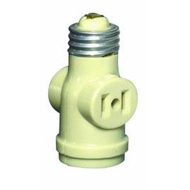 single light socket 2 outlet adapter ivory lamp sockets parts. Black Bedroom Furniture Sets. Home Design Ideas