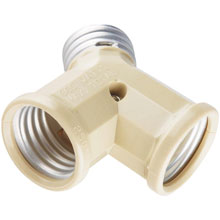 1-to-2 Light Socket Adapter - Ivory 515552
