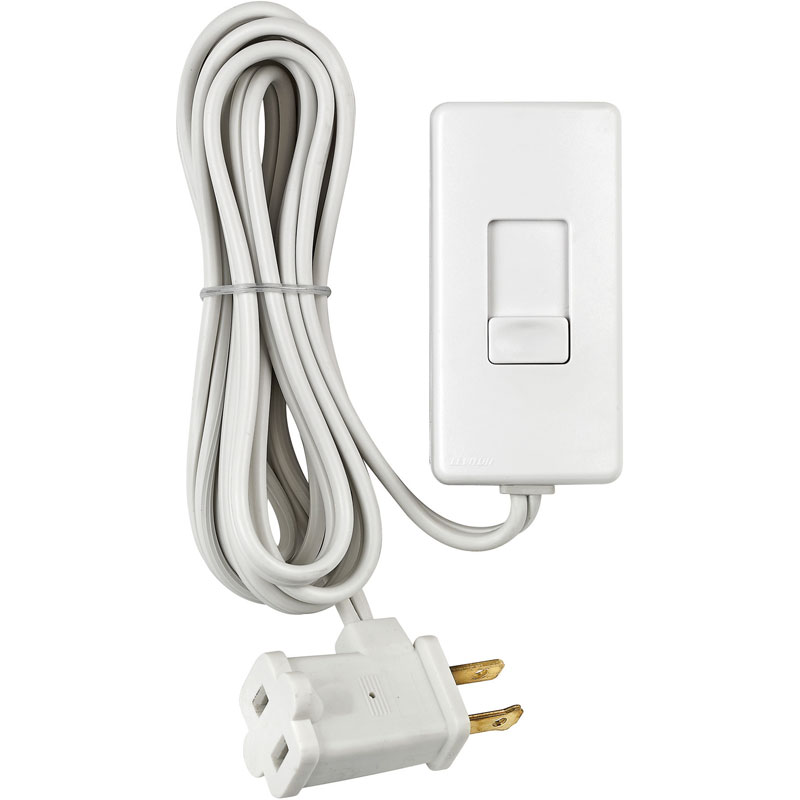 White Universal Tabletop Lamp Dimmer Control