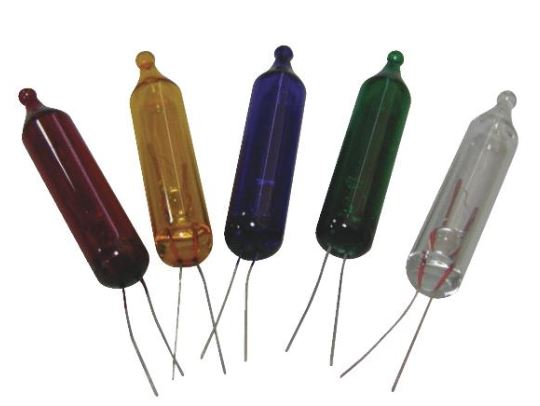 String Lights With Replacement Bulbs : Multi-Color Replacement Mini String Light Bulbs - 2.5V