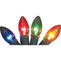 Transparent Multi-Color C9 Stringlight Bulbs - 4 Pack - 901571
