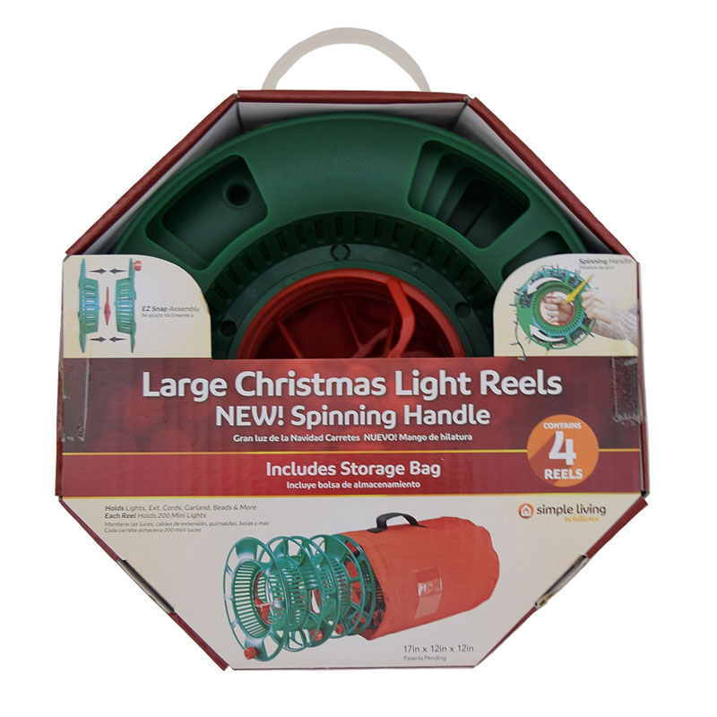 Set of 4 Spinning Storage Light Reels w/ Bag