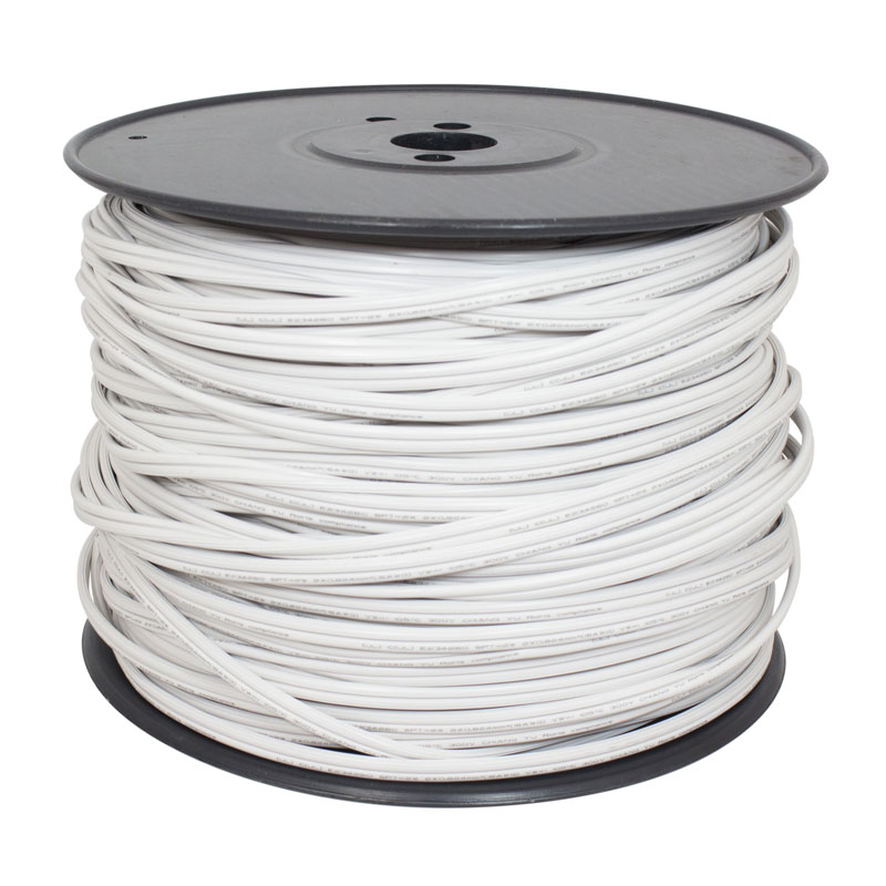 500 ft. White X-Wire 18-Gauge SPT-2 Wire