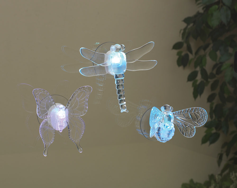 Garden Friends Window Lights Set Of 3 Battery Operated