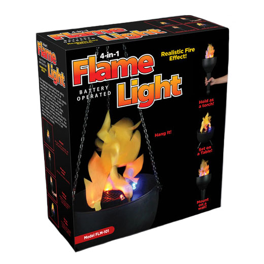 Battery Flame Light Torch - 4-in-1