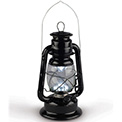 "LED Black Railroad Hurricane Camping Lantern - 11.8"" - GC41440"