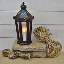 Luminara Lantern Flameless Candle Lantern - Brown