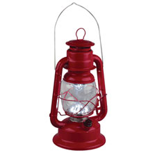 LED Red Railroad Hurricane Camping Lantern - 9.65""