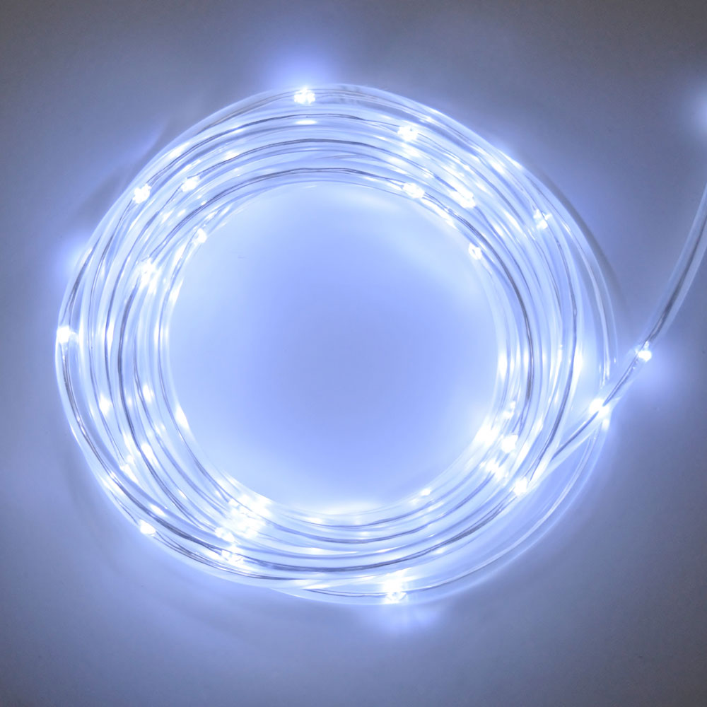 Cool white ropelight 15 feet battery cool white led rope light battery multi function timer 15 feet aloadofball Images