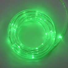 15u0027 Green LED Battery Operated Rope Light