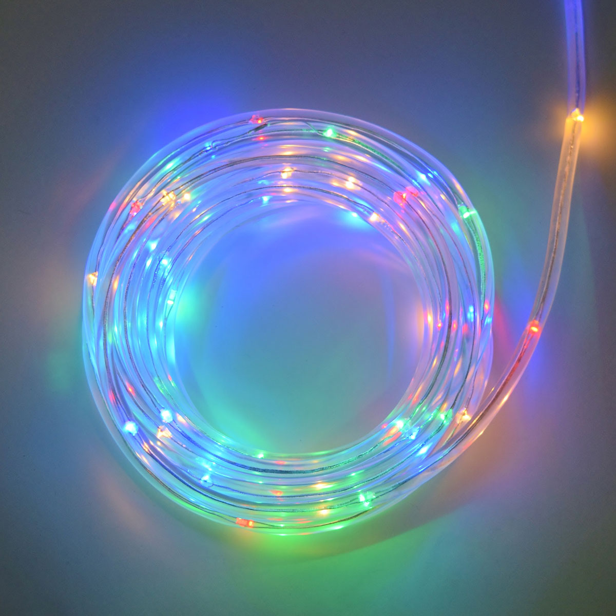Multi Color LED Rope Light   Battery Operated   15 Feet