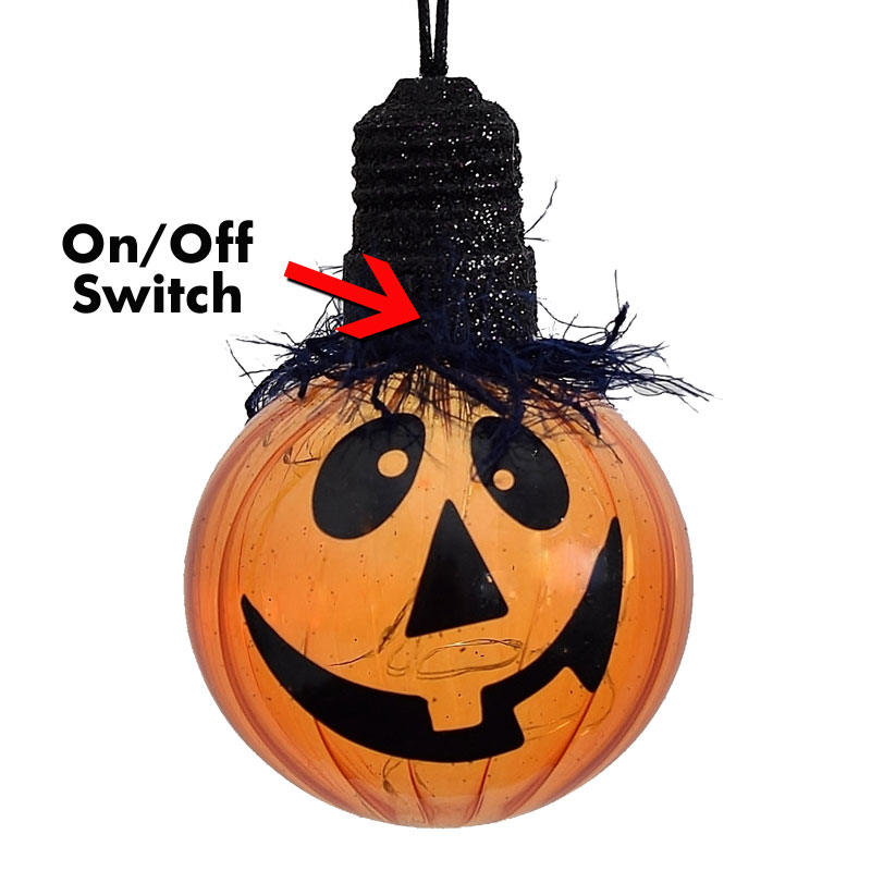 Battery Operated LED Pumpkin Ornament Light