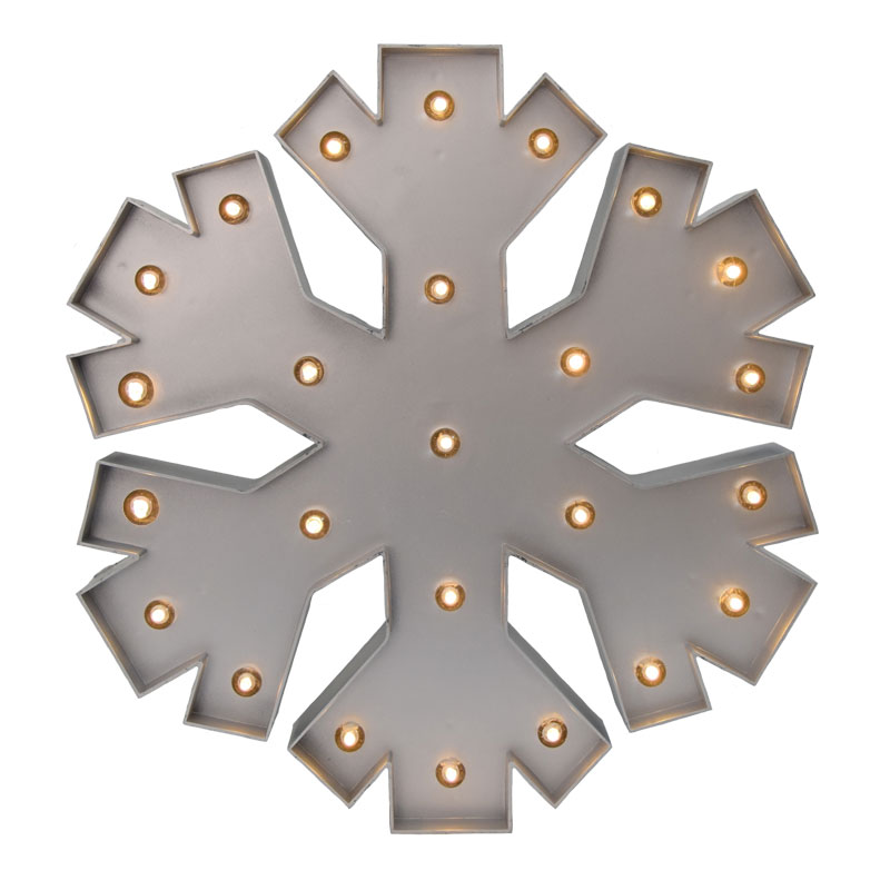 Battery Operated Metallic Snowflake Light